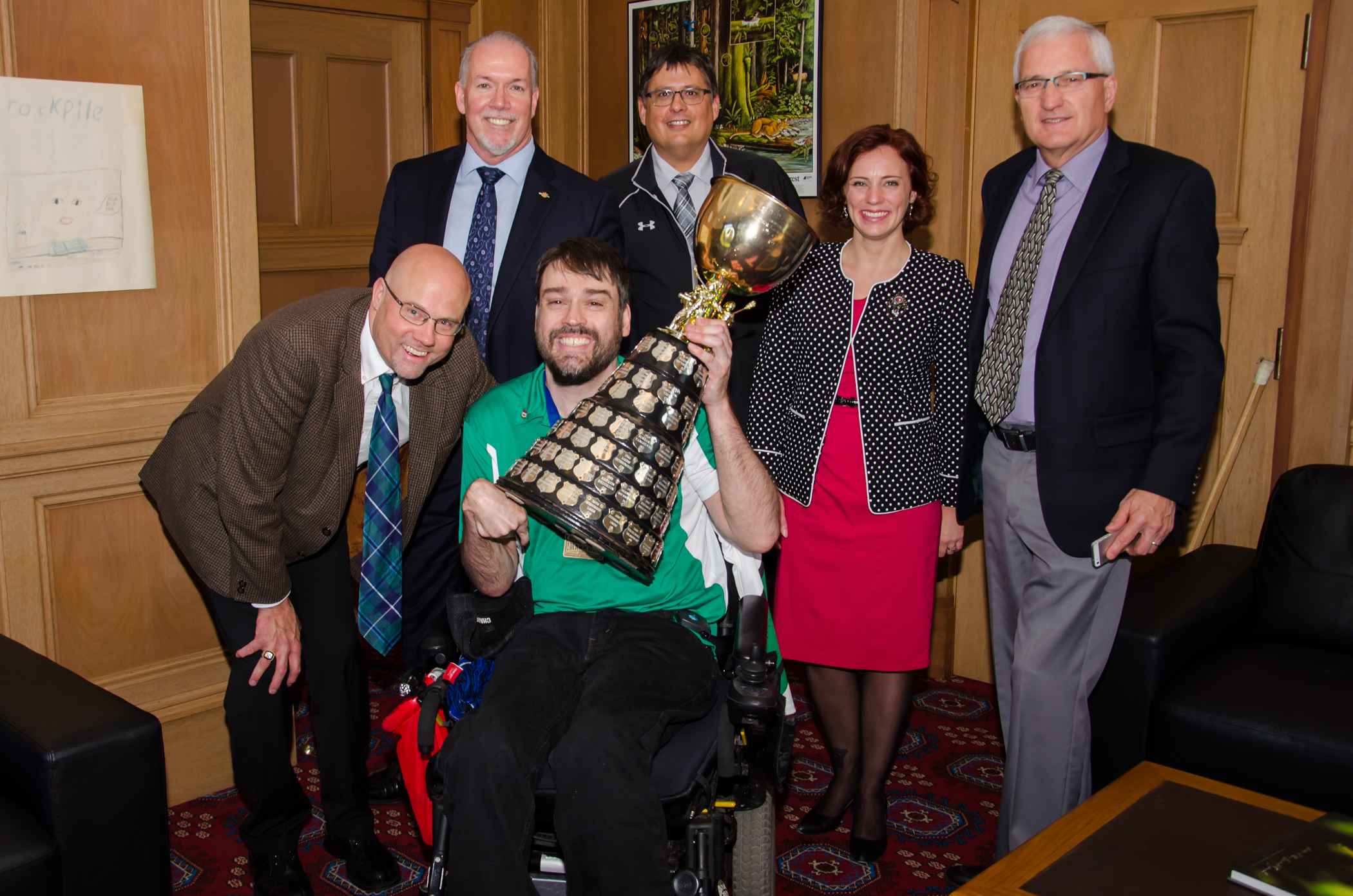2015 Mann Cup visits the Legislature