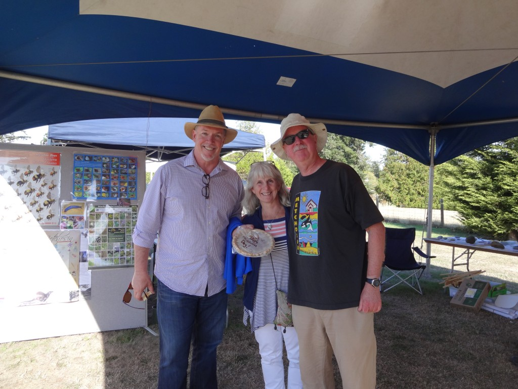 John Horgan with Councillor Moralea Milne & Councillor Andy MacKinnon at Metchosin Days Sept 2015 027