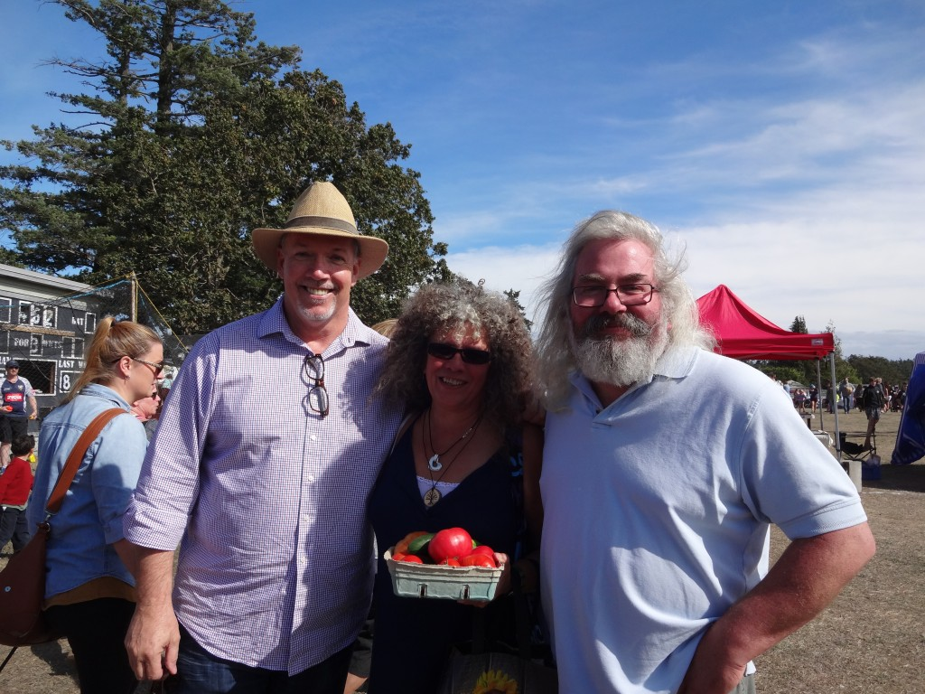 John Horgan with Kim and Steve Metchosin Days Sept 2015 022