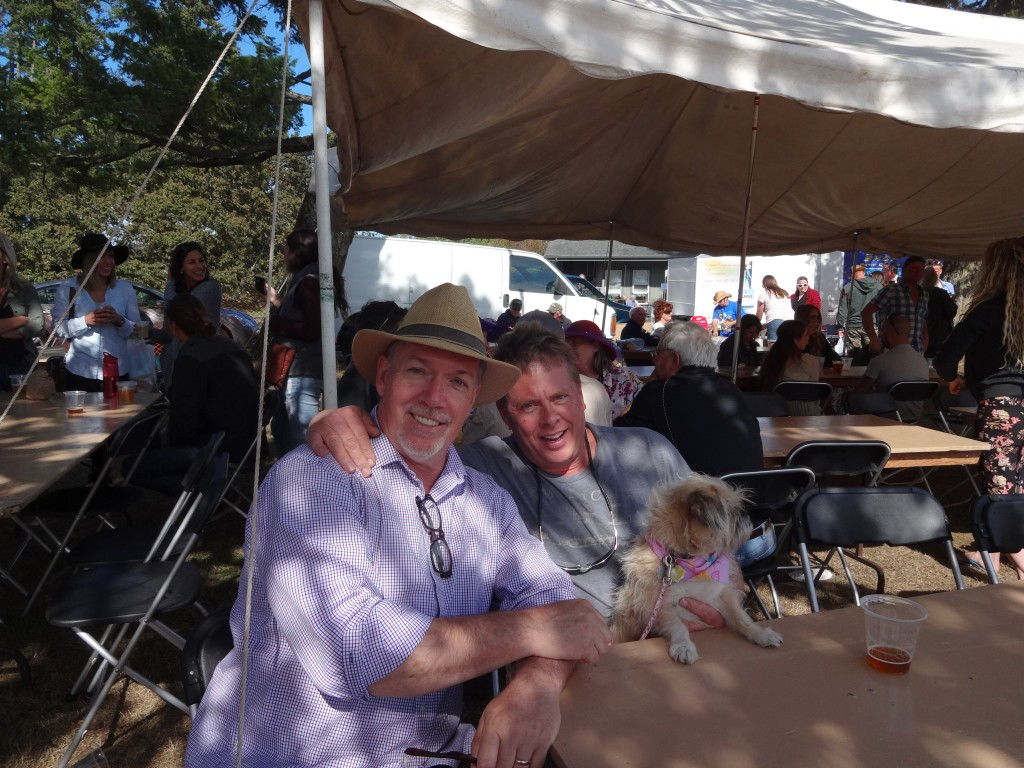 John Horgan with Randy Josephson Metchosin Days Sept 2015