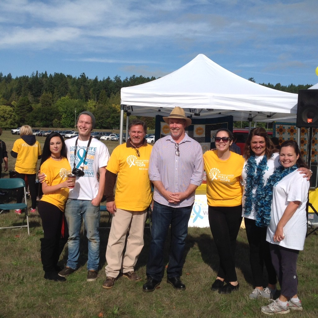 John Horgan with the Organizing TEAM for Ovarian Cancer Walk 2015