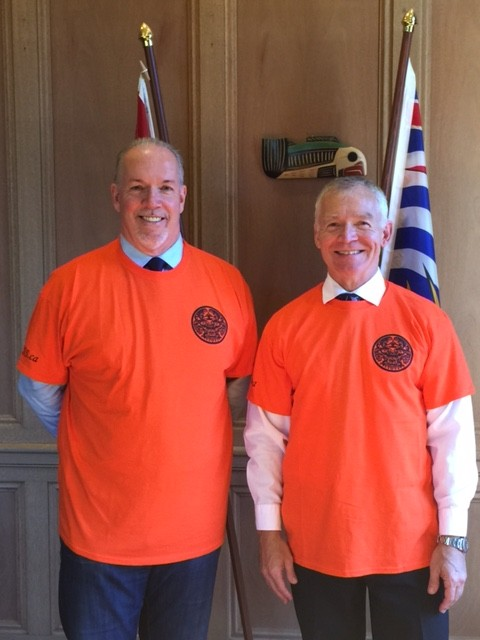 John Horgan and MLA Scott Fraser, Alberni-Pacific Rim, Opposition Spokesperson for Aboriginal Relations and Reconciliation