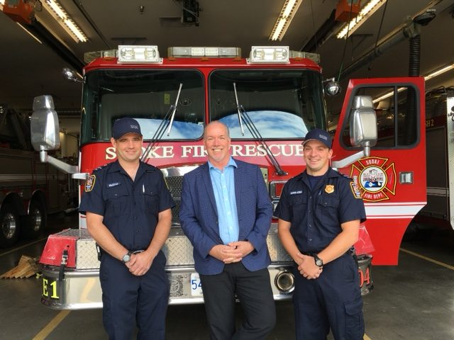 SOOKE FIRE FIGHTERS with John Horgan (Cam and Chris)
